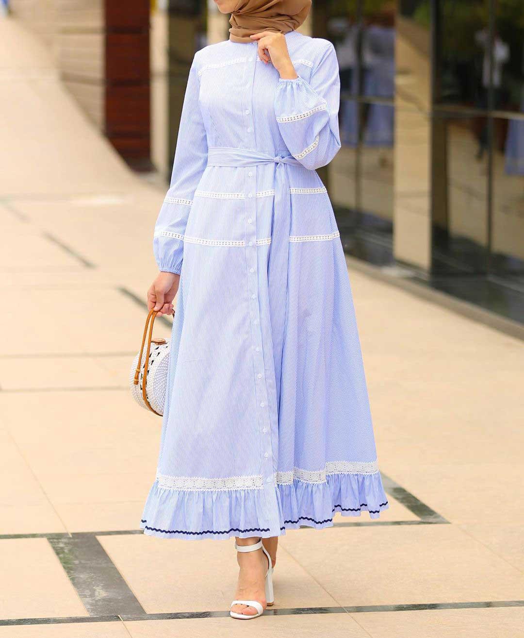 فستان كاجوال باللون الازرق