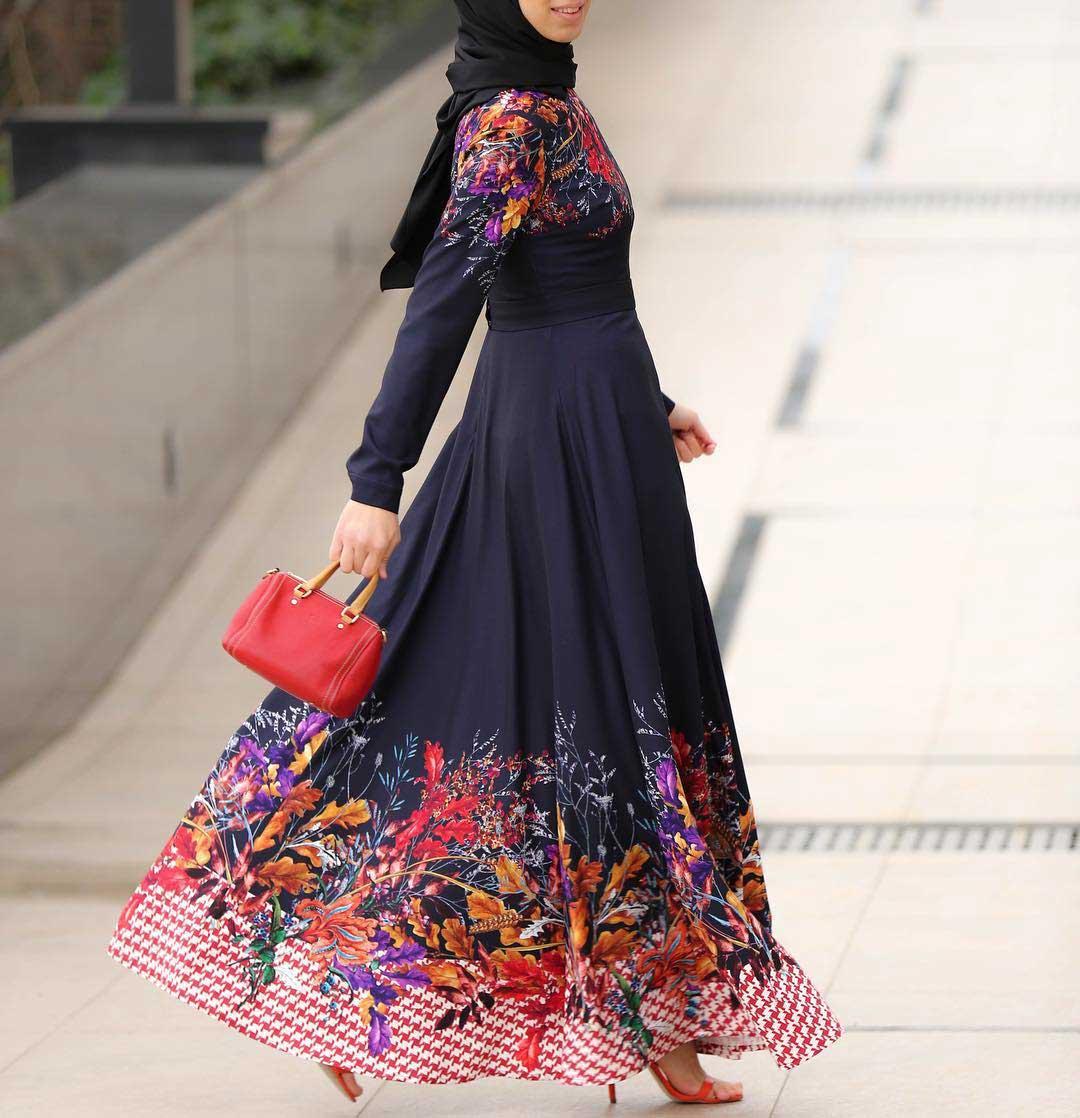 فستان محجبات باللون الاسود