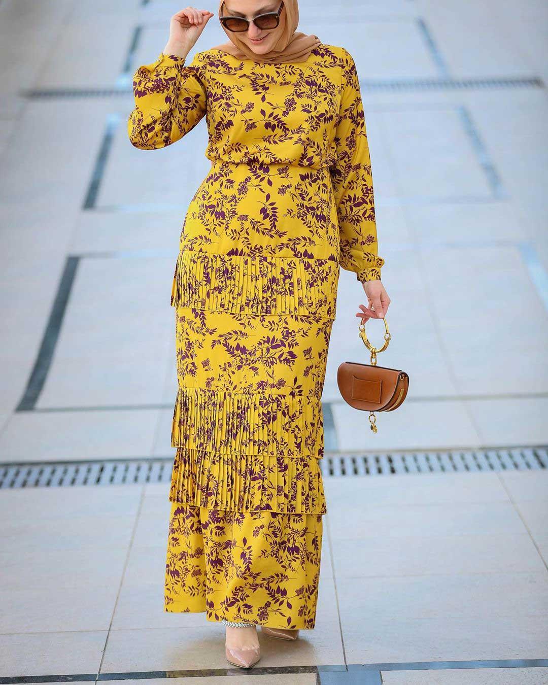 فستان بلون المسطردة