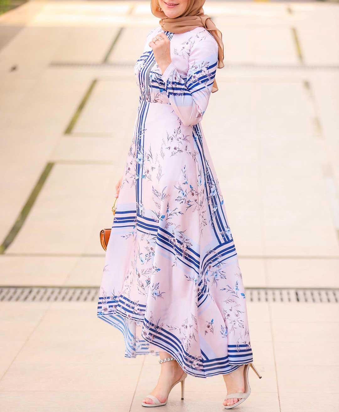 فستان صيفي منقوش