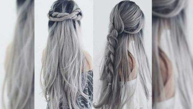 لون شعر رمادي