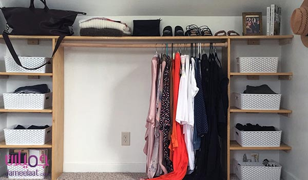 فكرة بسيطة لعمل غرفة ملابس