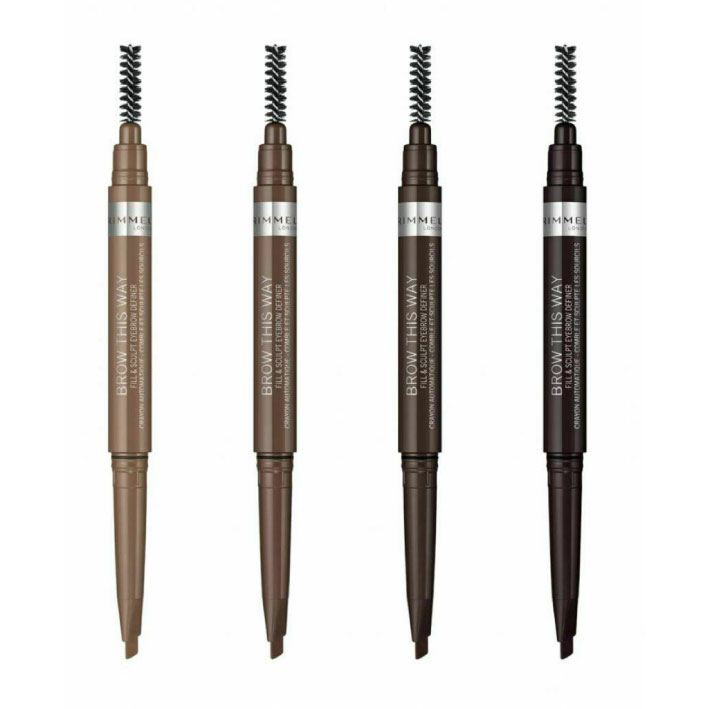 قلم رسم الحواجب من ريميل لندن براو ذا واي اتنين في واحد BROW THIS WAY FILL & SCULPT EYEBROW DEFINER