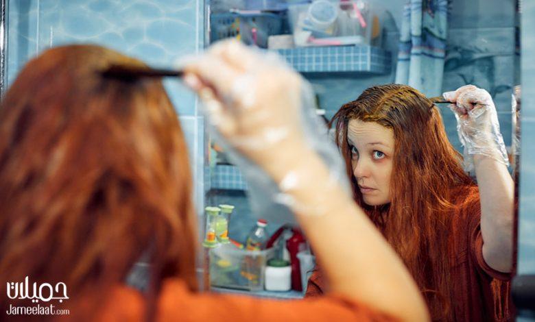 ازالة الحناء من الشعر