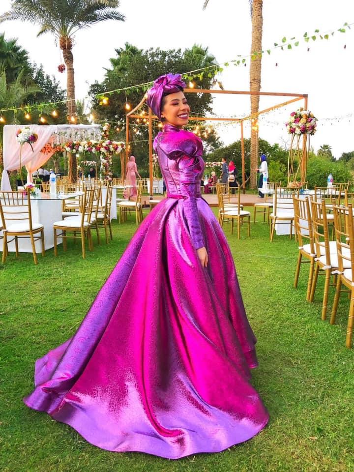 فستان سوارية فوشيا