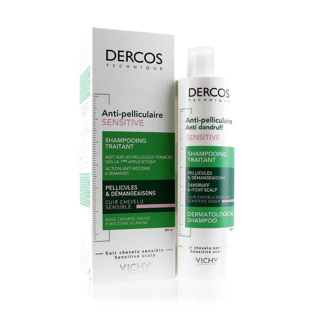 شامبو فيتشي ديركوس الأخضر ضد القشرة Vichy Dercos Anti dandruff for sensitive scalp