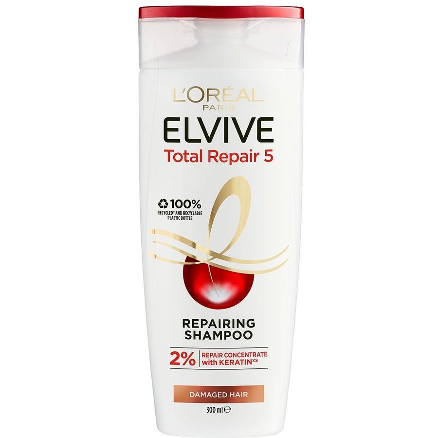 شامبو لوريال الخالي من السلفات - L'Oreal Paris Elvive Total Repair 5 Shampoo