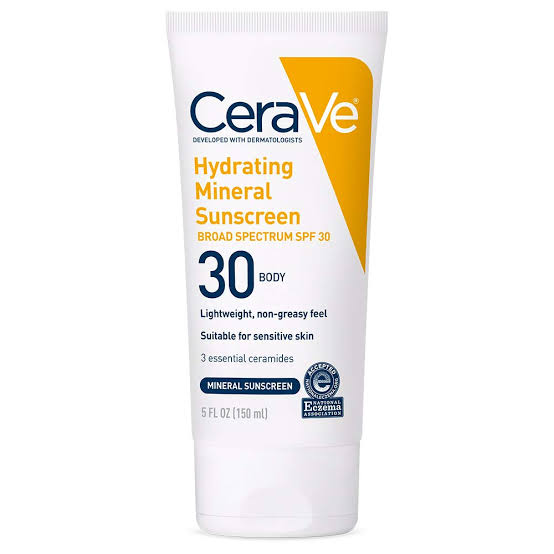صن بلوك للبشرة الجافة من سيرافي CeraVe hydrating sunscreen