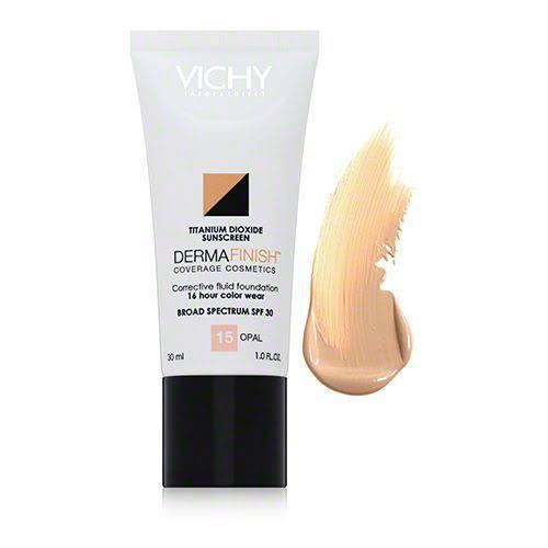 صن بلوك Vichy الأبيض Skin CareDermafinish Corrective Fluid Foundation Opal