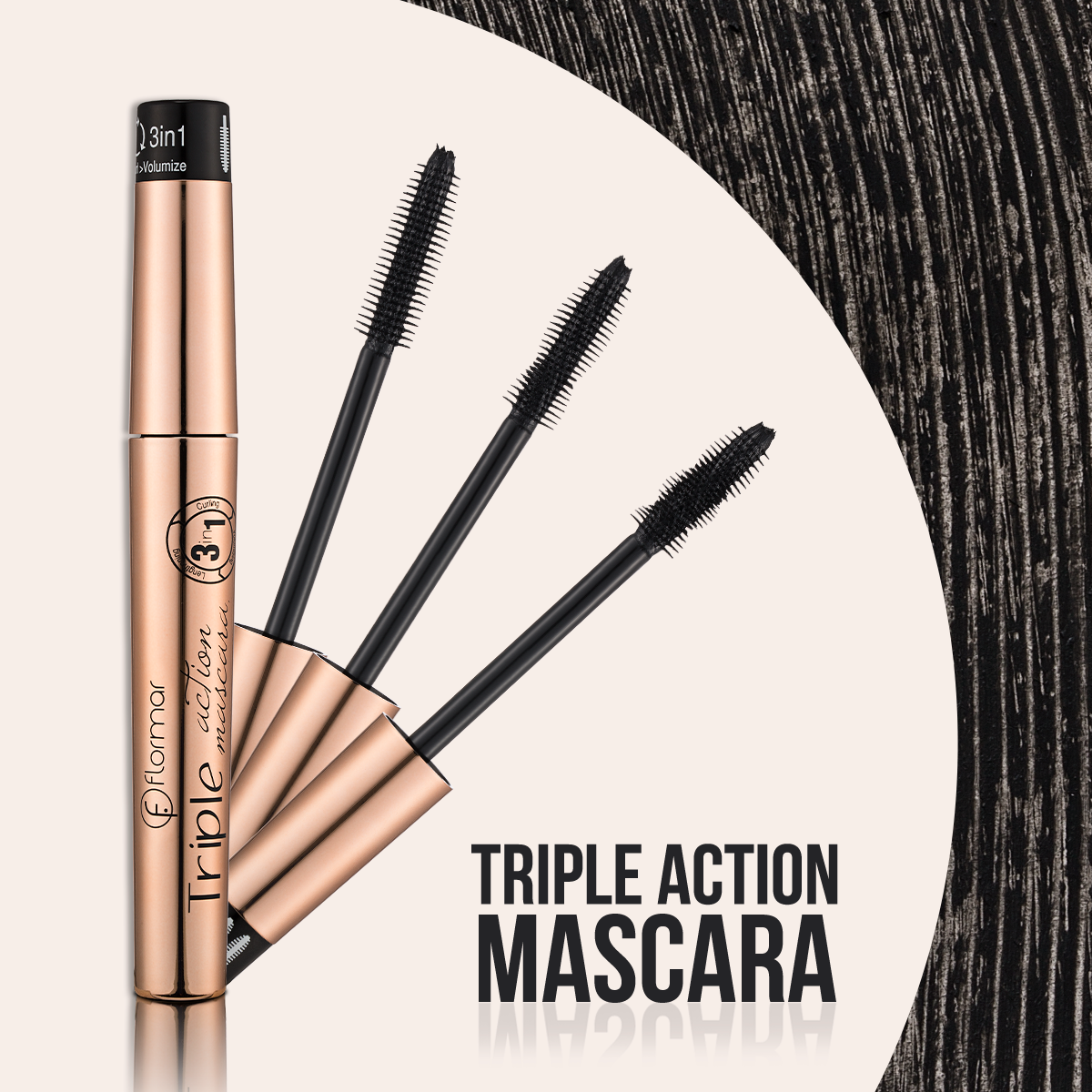 ماسكرا فلورمار تريبل أكشن Flormar Triple Action Mascara
