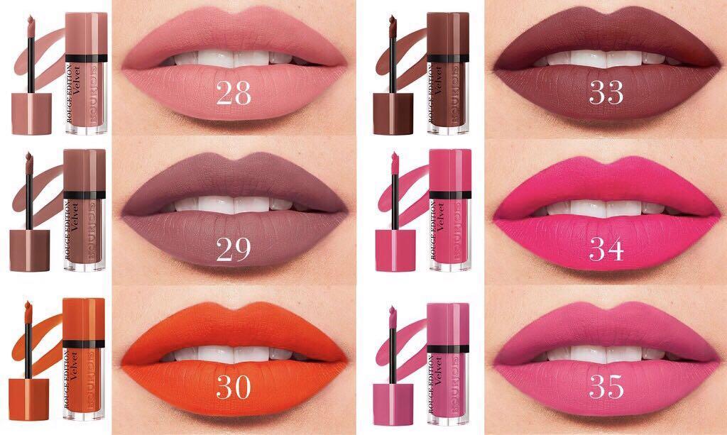 روج برجوا شاين ايديشين ليب ستيك Bour jois rouge edition velvet liquid lip stick
